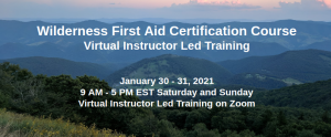 Virtual Instructor Led Training - Wilderness First Aid Certification Course
