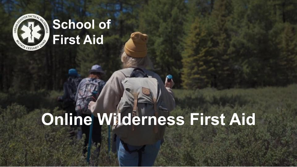 Online Wilderness First Aid Courses